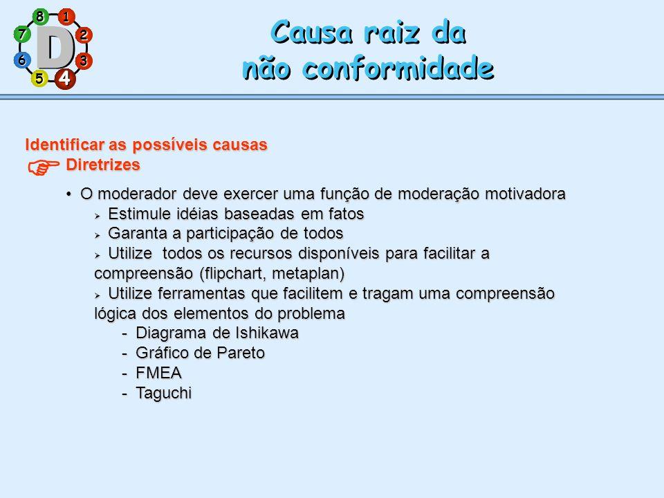 Causa raiz da não conformidade 4 Identificar as possíveis causas