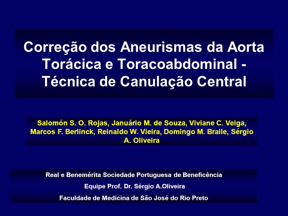 Correção dos Aneurismas da Aorta Torácica e Toracoabdominal - Técnica de Canulação Central