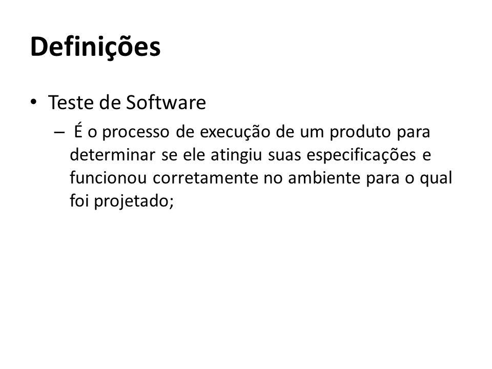 Definições Teste de Software