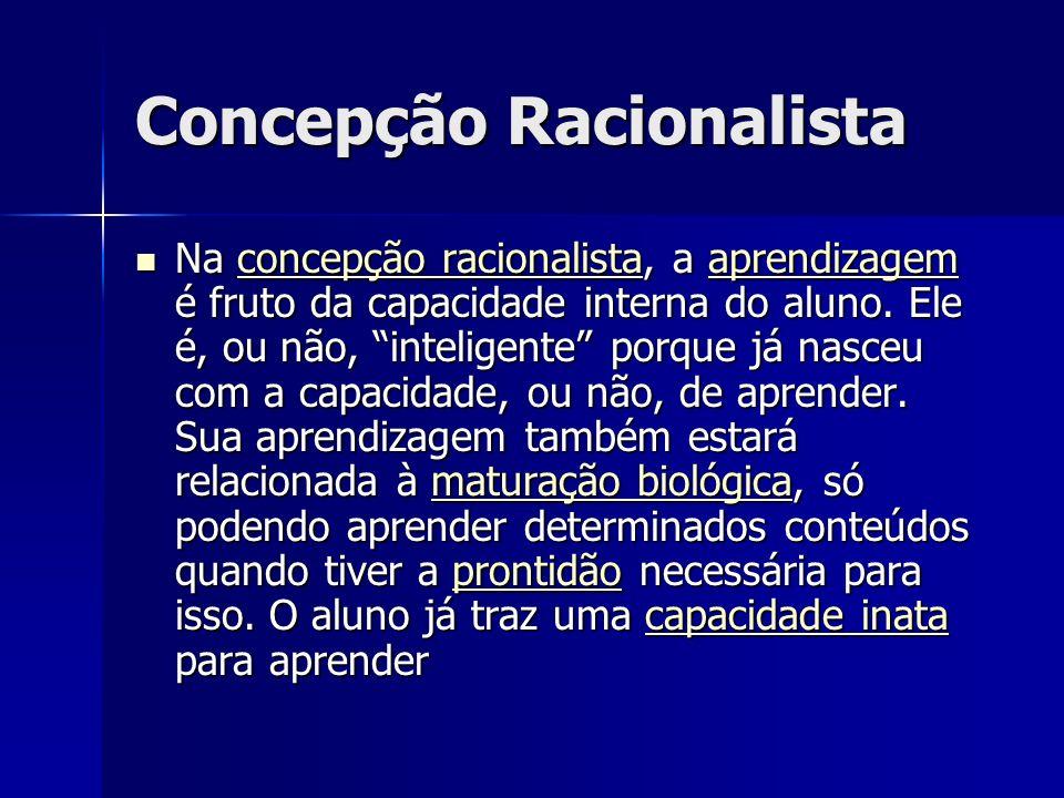 Concepção Racionalista