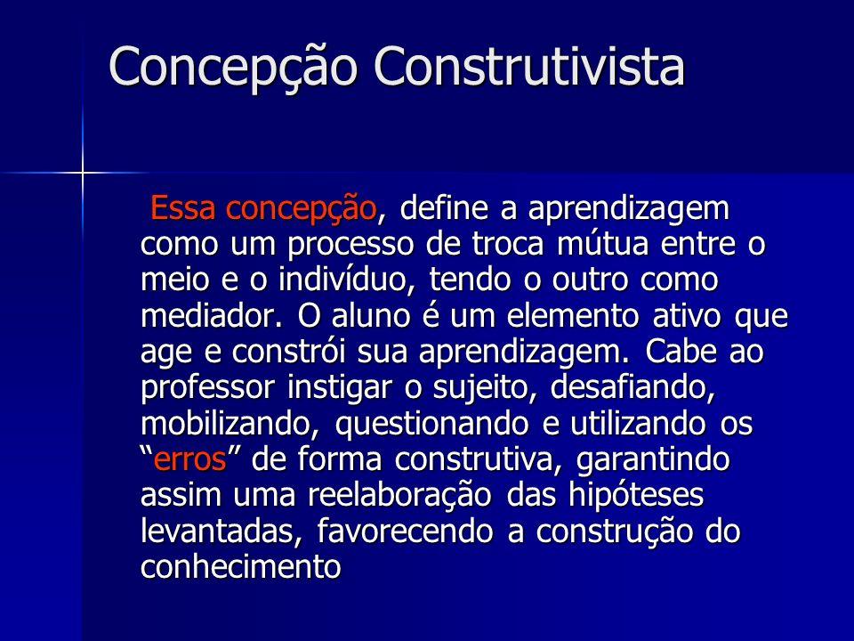 Concepção Construtivista