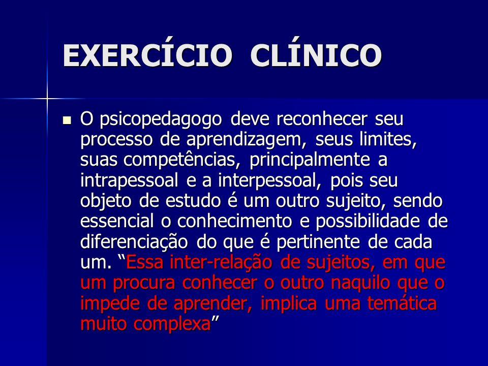 EXERCÍCIO CLÍNICO
