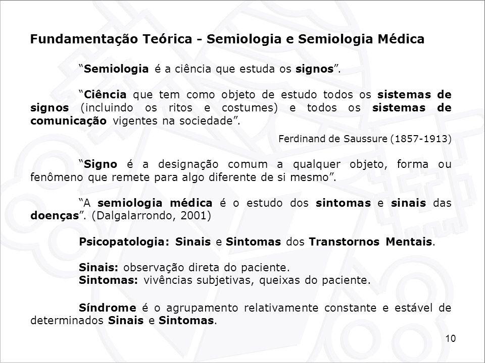 Fundamentação Teórica - Semiologia e Semiologia Médica