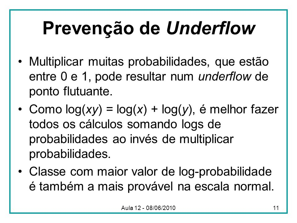 Prevenção de Underflow