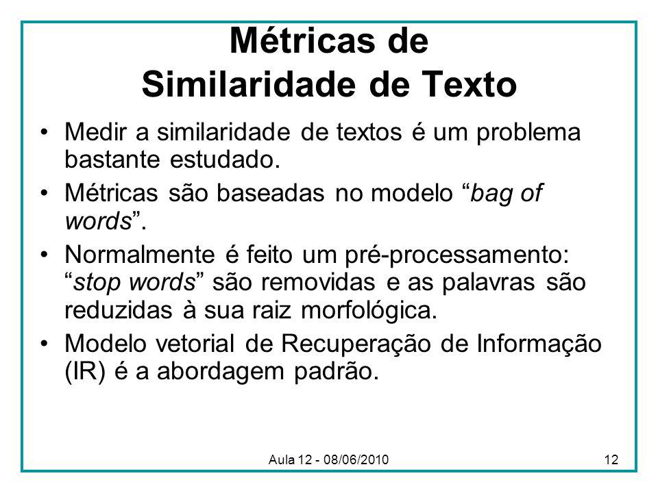 Métricas de Similaridade de Texto