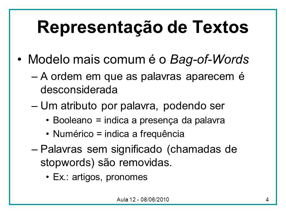 Representação de Textos