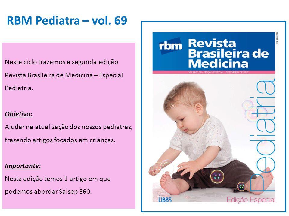 RBM Pediatra – vol. 69 Neste ciclo trazemos a segunda edição Revista Brasileira de Medicina – Especial Pediatria.