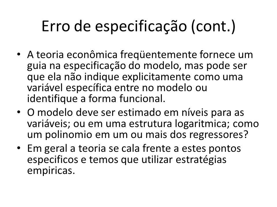 Erro de especificação (cont.)