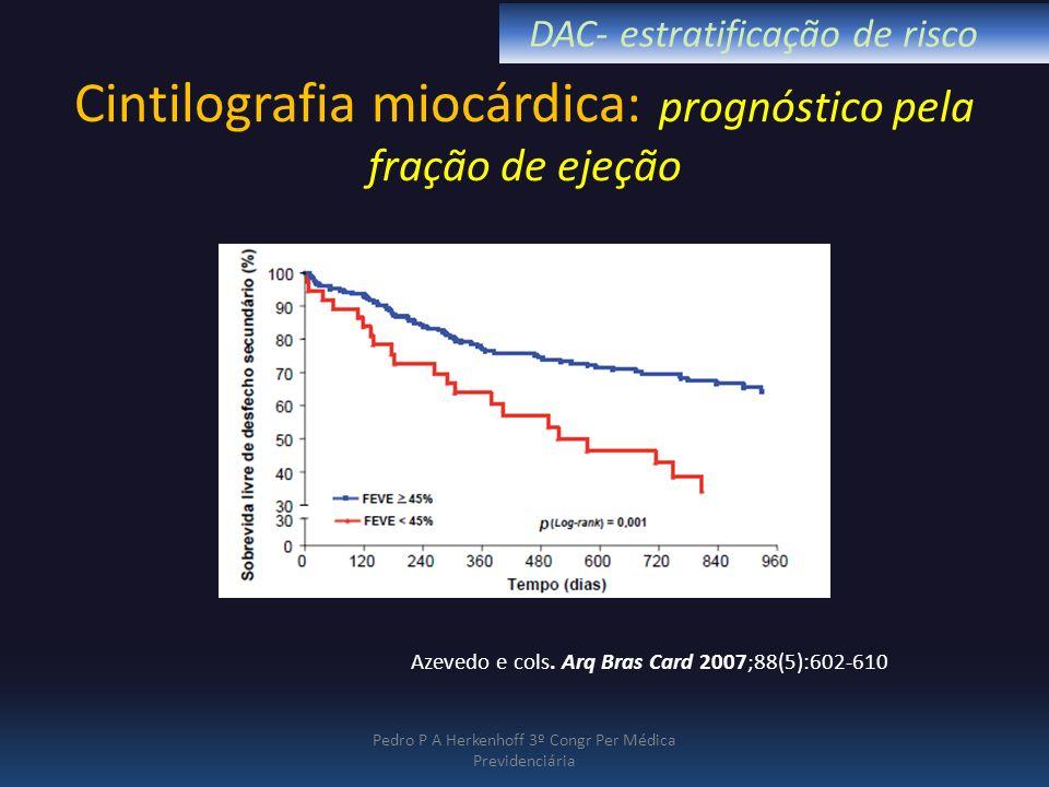 Cintilografia miocárdica: prognóstico pela fração de ejeção