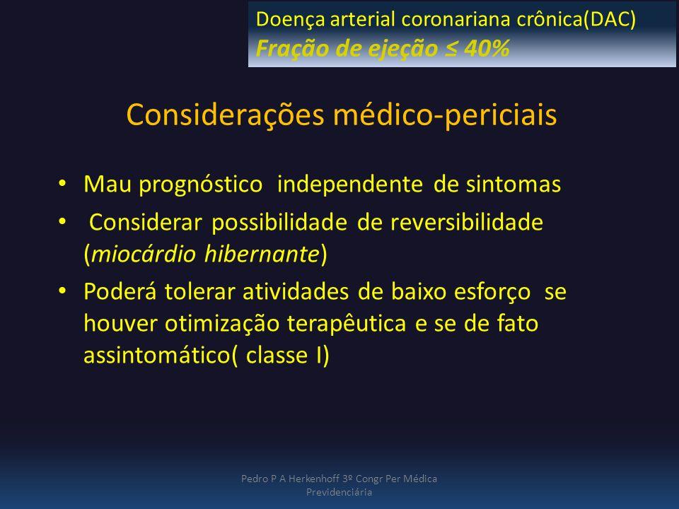 Considerações médico-periciais