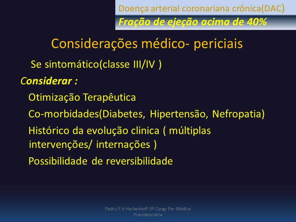 Considerações médico- periciais