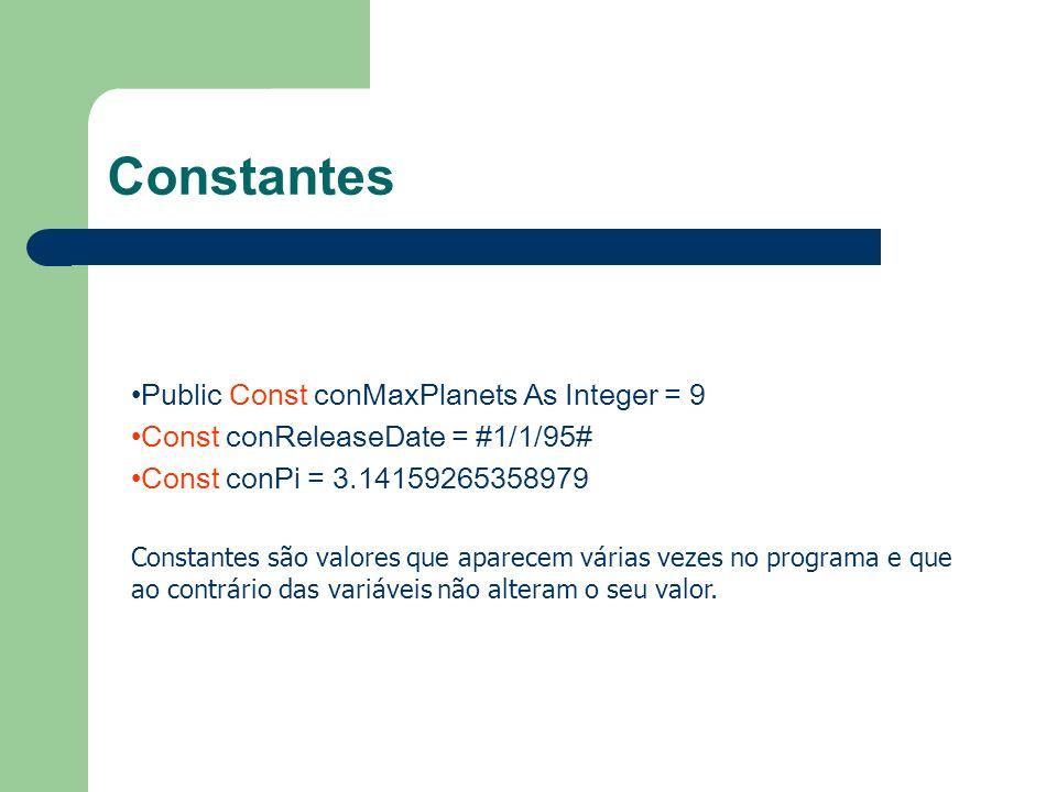 Constantes Public Const conMaxPlanets As Integer = 9