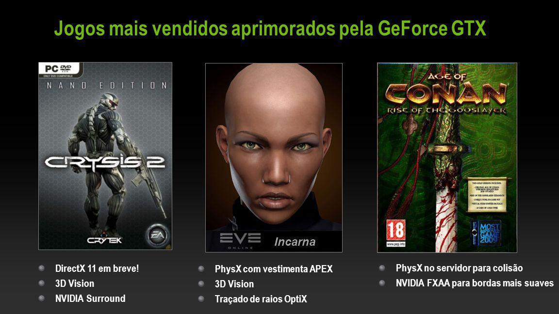 Jogos mais vendidos aprimorados pela GeForce GTX