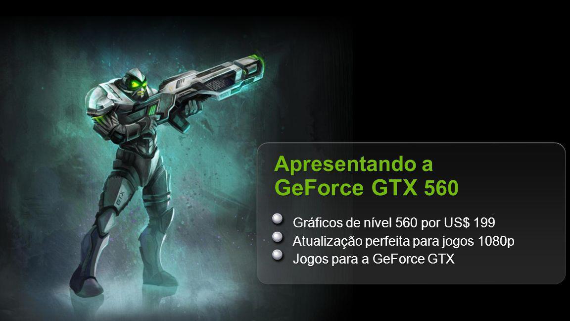 Apresentando a GeForce GTX 560