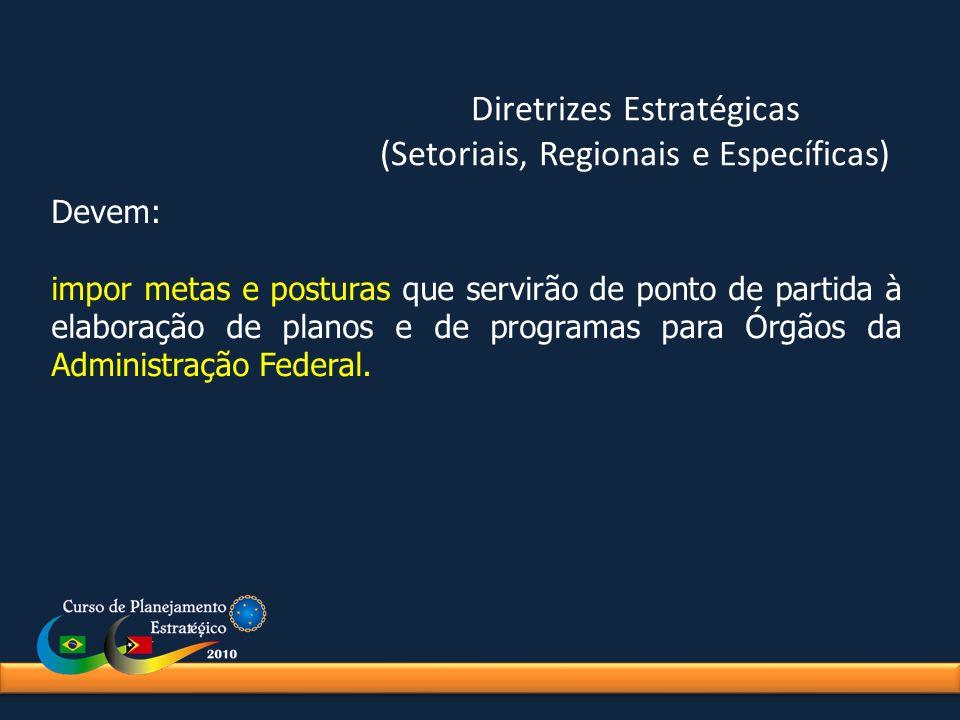 Diretrizes Estratégicas (Setoriais, Regionais e Específicas)