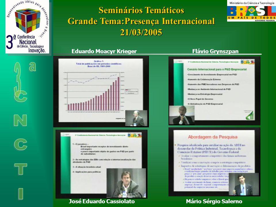 Seminários Temáticos Grande Tema:Presença Internacional 21/03/2005