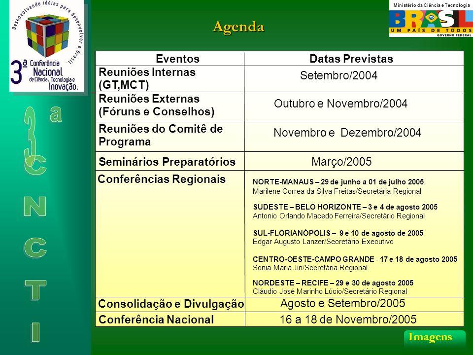 Agenda 3 CNCTI Imagens Eventos Datas Previstas Reuniões Internas