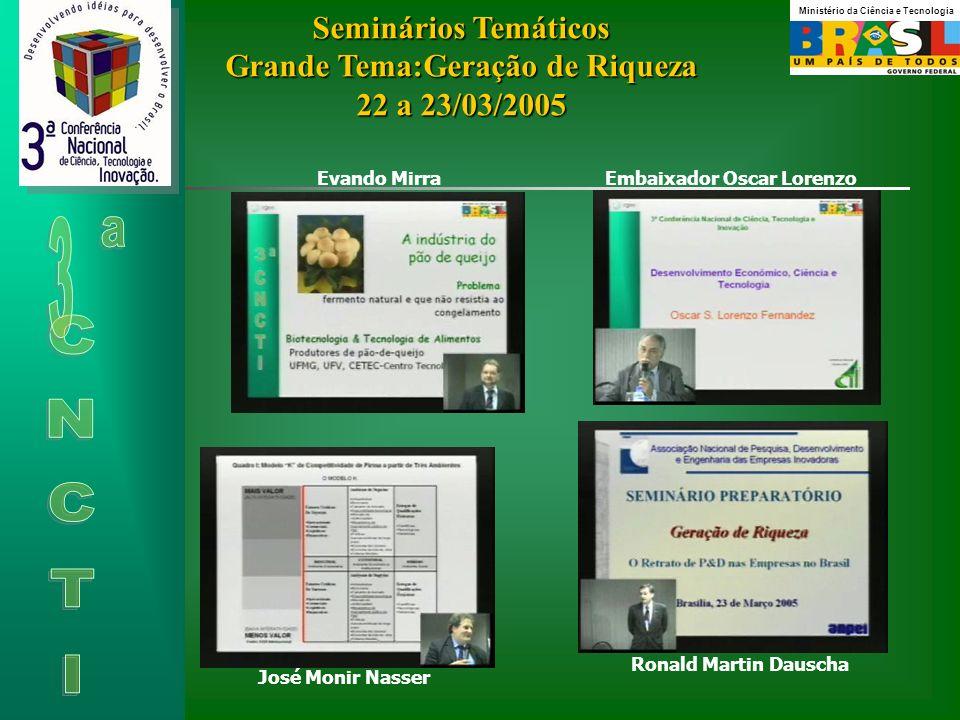 Seminários Temáticos Grande Tema:Geração de Riqueza 22 a 23/03/2005
