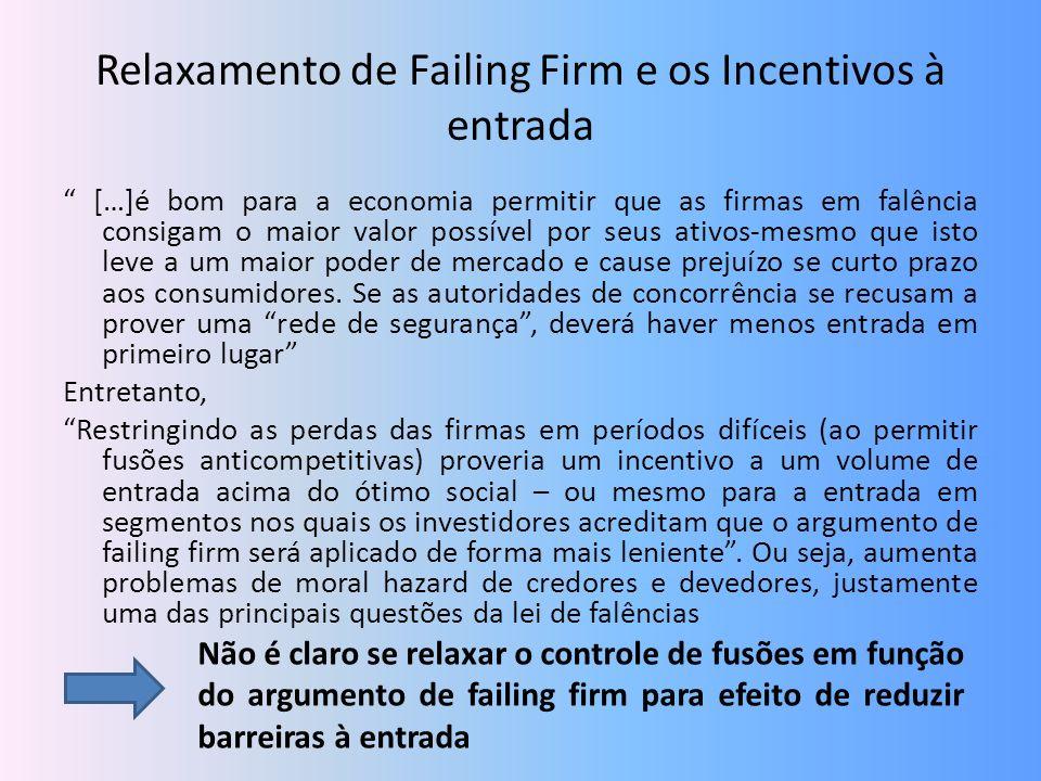 Relaxamento de Failing Firm e os Incentivos à entrada