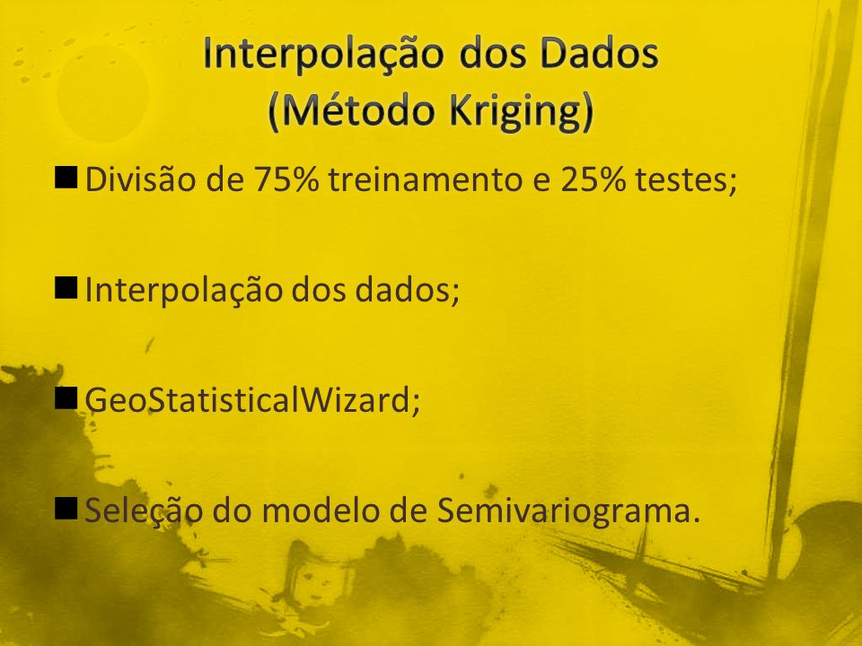 Interpolação dos Dados (Método Kriging)