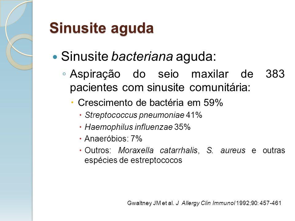 Sinusite aguda Sinusite bacteriana aguda: