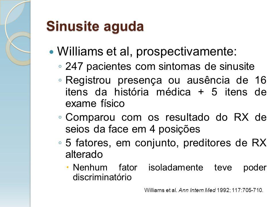 Sinusite aguda Williams et al, prospectivamente: