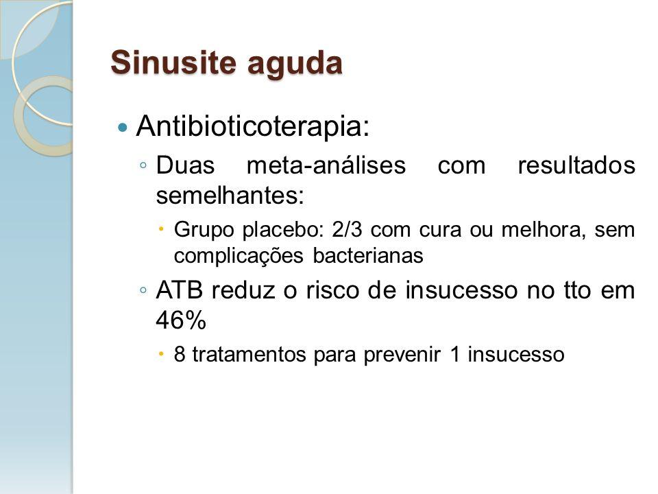 Sinusite aguda Antibioticoterapia: