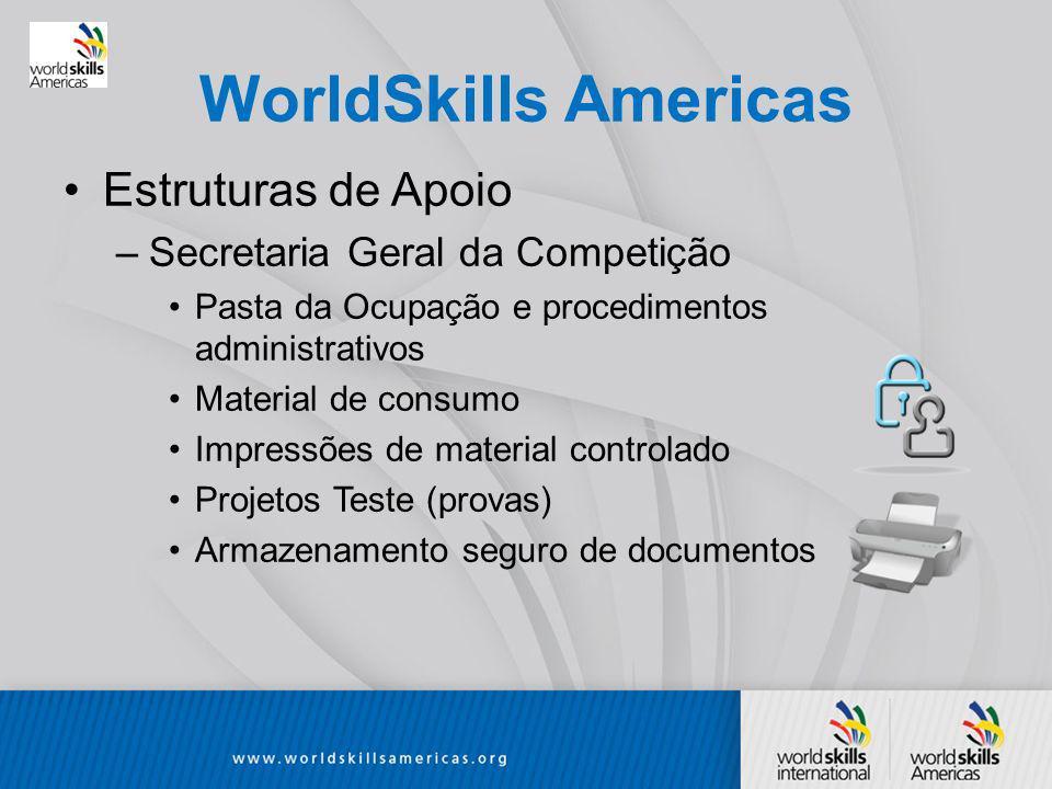 WorldSkills Americas Estruturas de Apoio