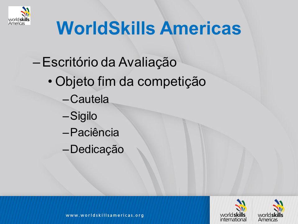 WorldSkills Americas Escritório da Avaliação Objeto fim da competição