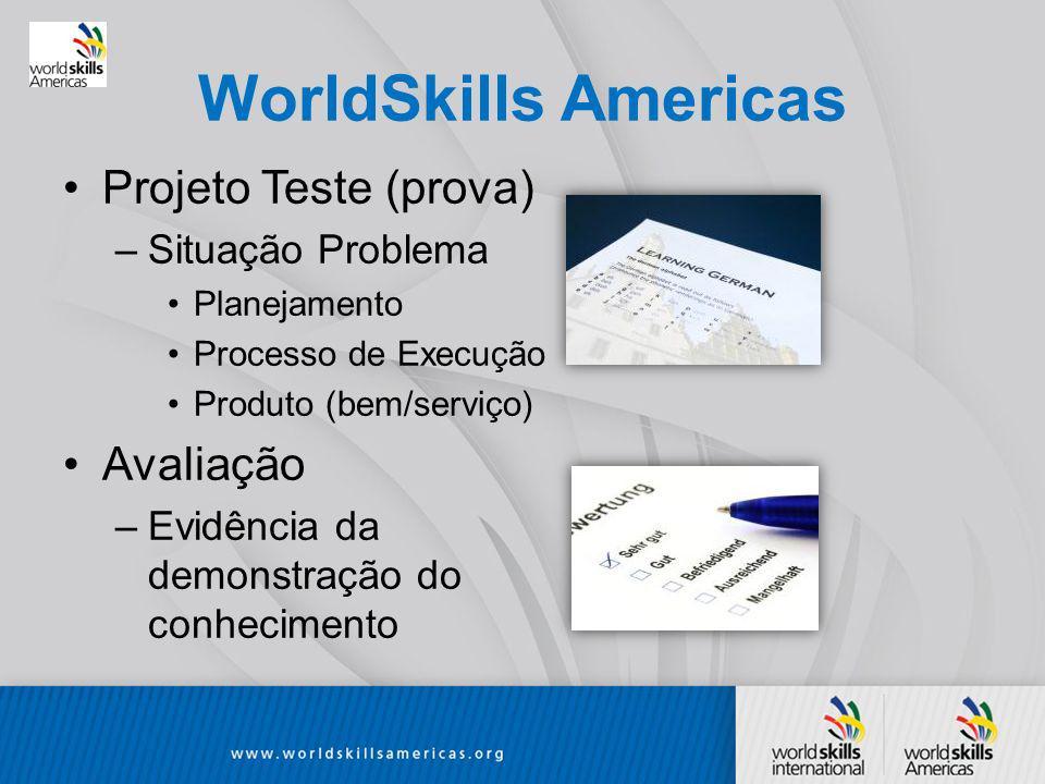 WorldSkills Americas Projeto Teste (prova) Avaliação Situação Problema
