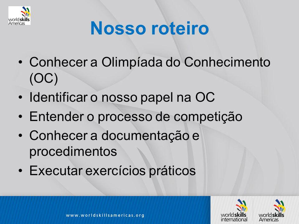 Nosso roteiro Conhecer a Olimpíada do Conhecimento (OC)