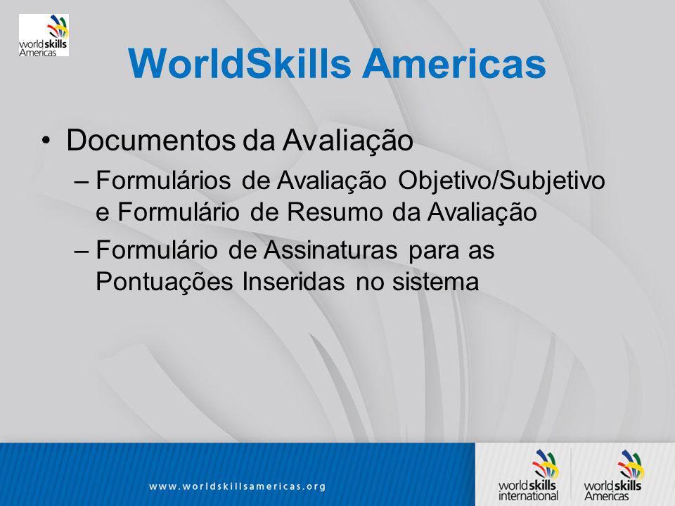 WorldSkills Americas Documentos da Avaliação