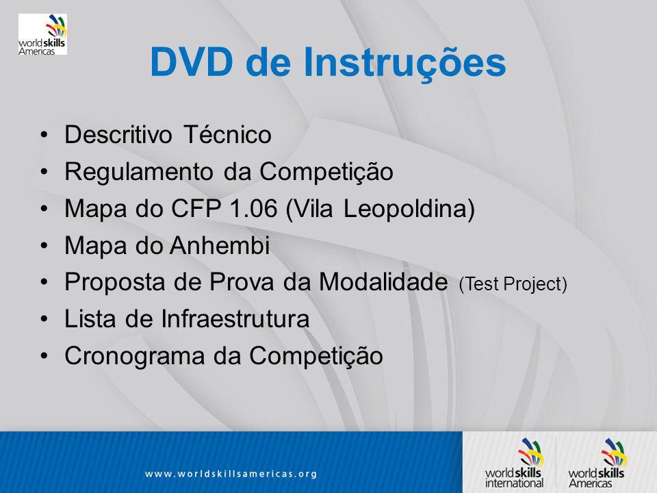 DVD de Instruções Descritivo Técnico Regulamento da Competição
