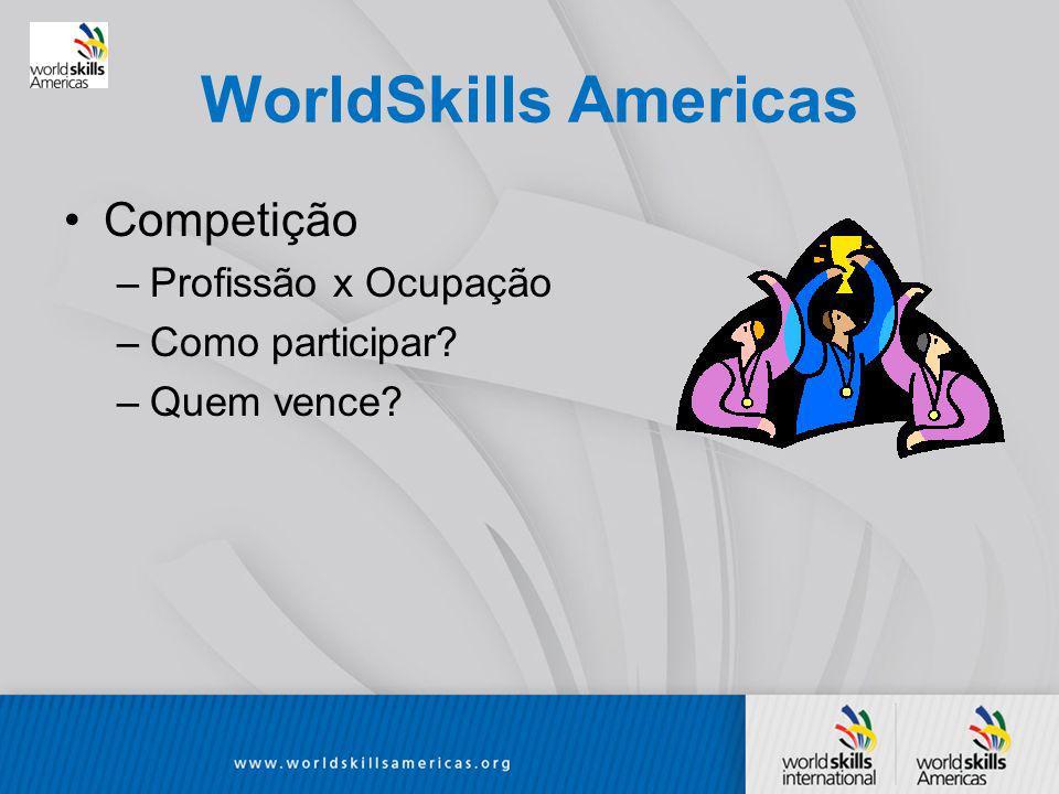 WorldSkills Americas Competição Profissão x Ocupação Como participar