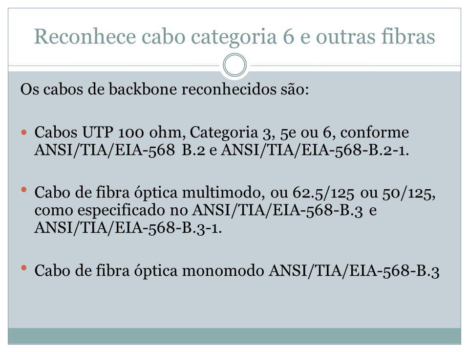 Reconhece cabo categoria 6 e outras fibras