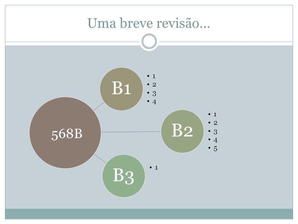 Uma breve revisão… B1 1 2 3 4 B2 5 B3 568B