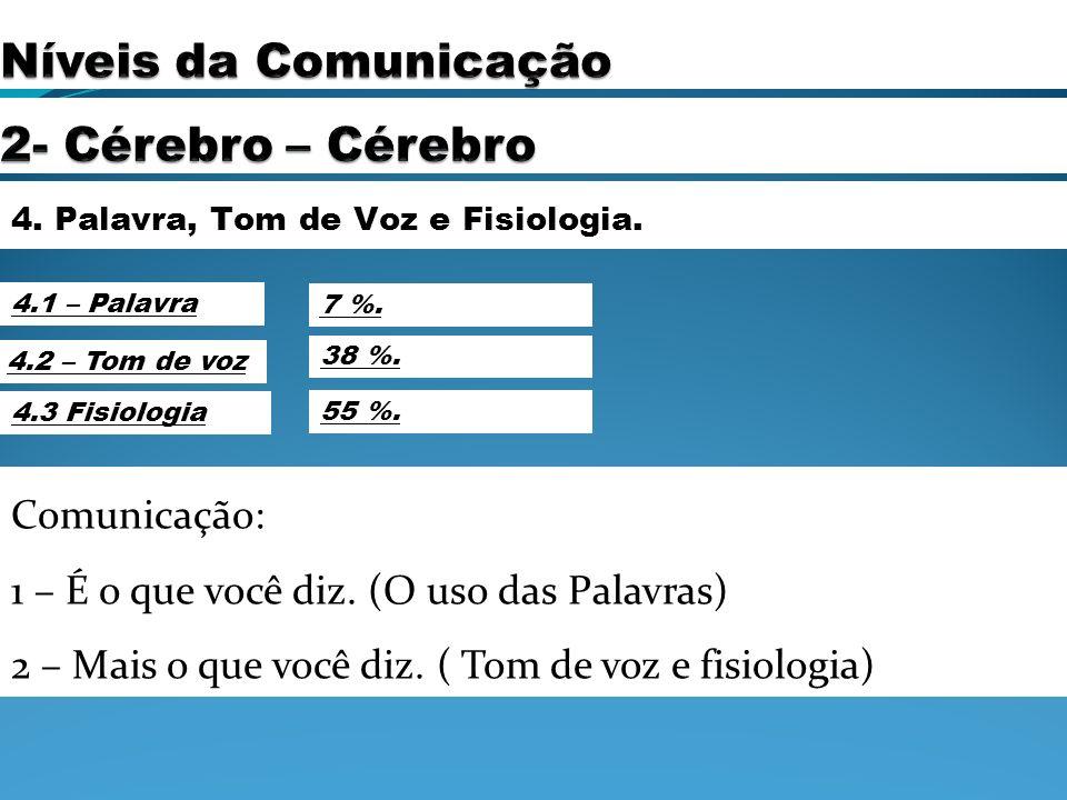 Níveis da Comunicação 2- Cérebro – Cérebro Comunicação: