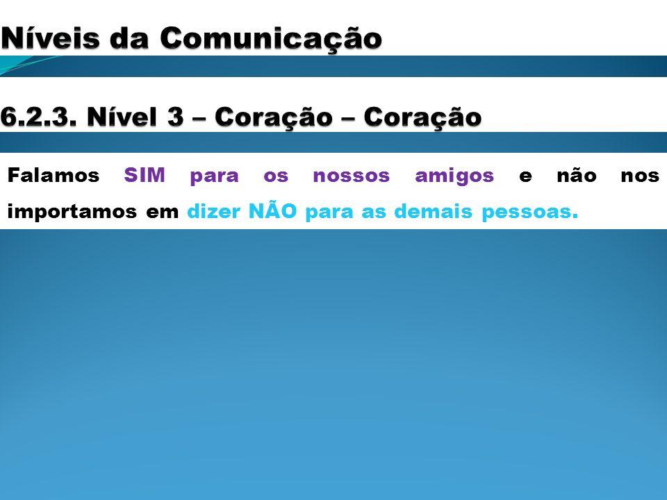 Níveis da Comunicação 6.2.3. Nível 3 – Coração – Coração