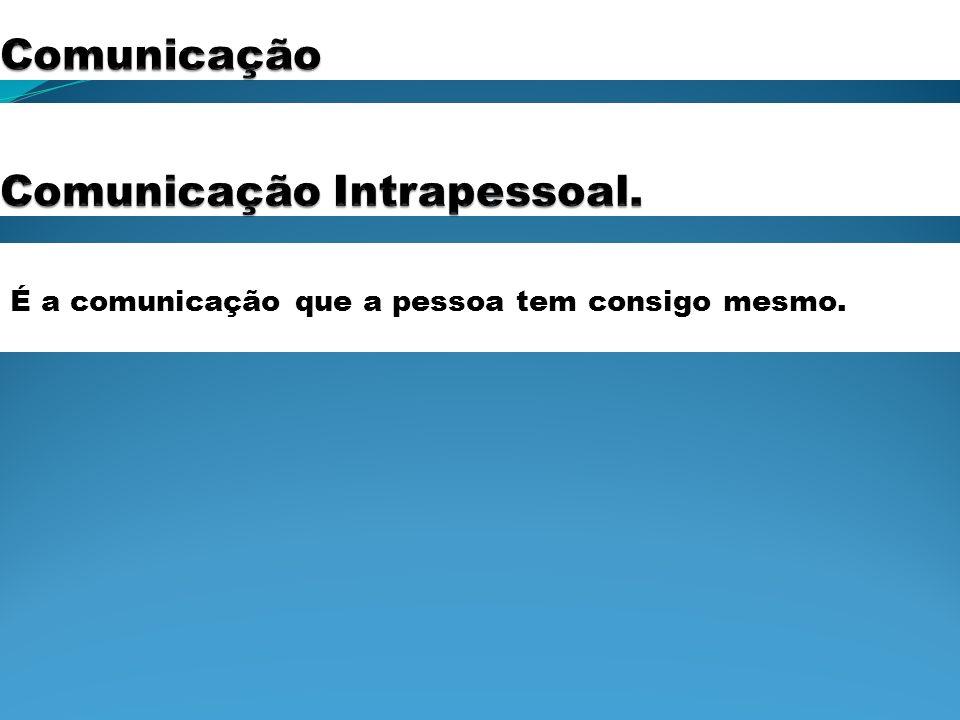 Comunicação Intrapessoal.