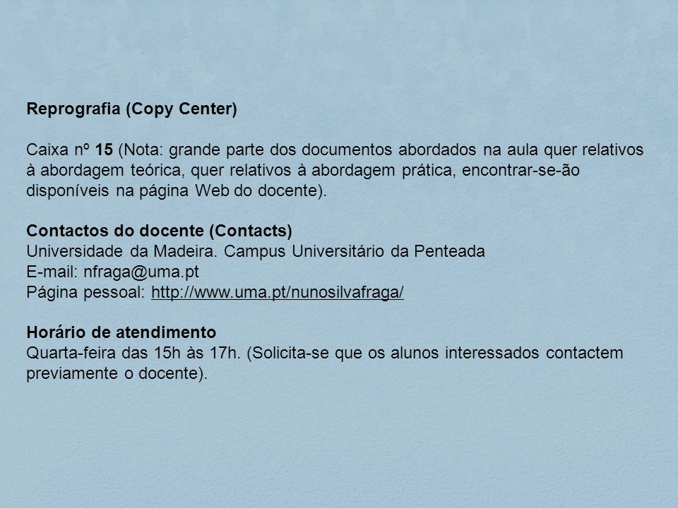 Reprografia (Copy Center)