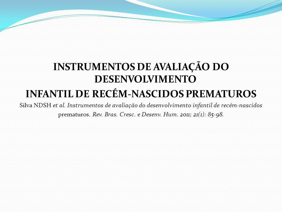 INSTRUMENTOS DE AVALIAÇÃO DO DESENVOLVIMENTO
