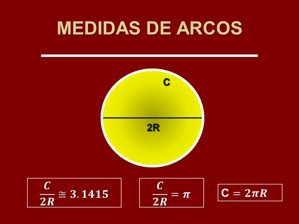 MEDIDAS DE ARCOS C 2R