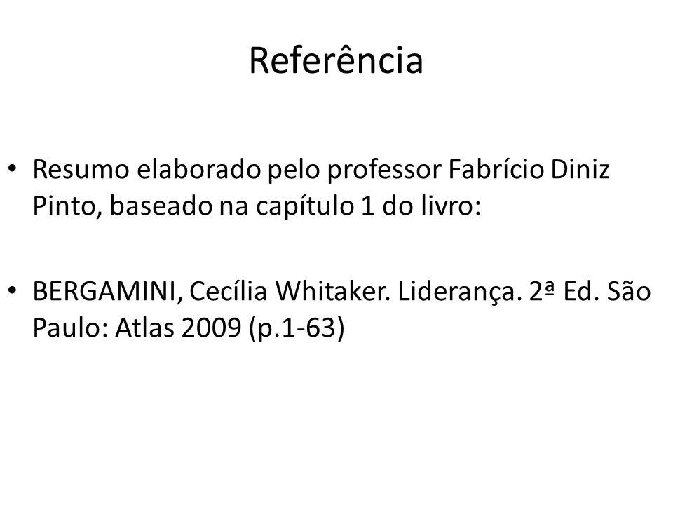 Referência Resumo elaborado pelo professor Fabrício Diniz Pinto, baseado na capítulo 1 do livro: