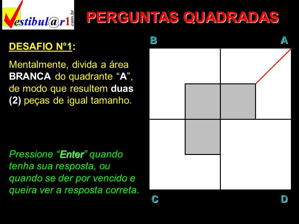 PERGUNTAS QUADRADAS B A D C DESAFIO N°1: