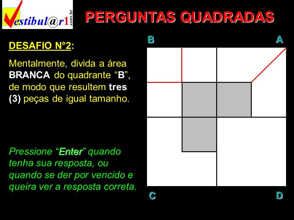PERGUNTAS QUADRADAS B A D C DESAFIO N°2: