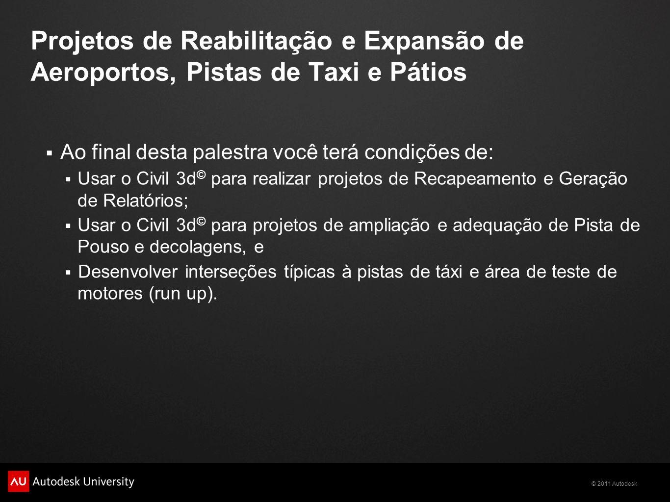 Projetos de Reabilitação e Expansão de Aeroportos, Pistas de Taxi e Pátios