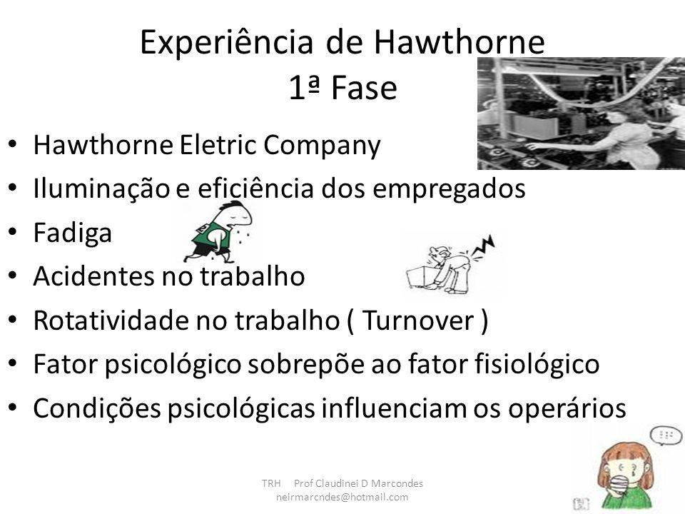 Experiência de Hawthorne 1ª Fase