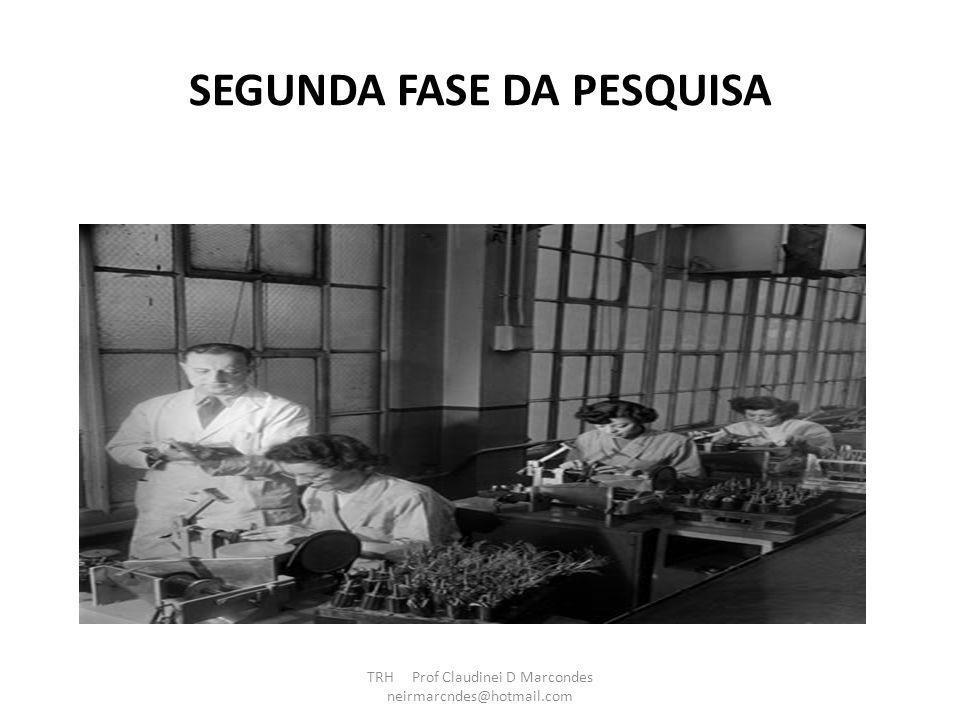 SEGUNDA FASE DA PESQUISA