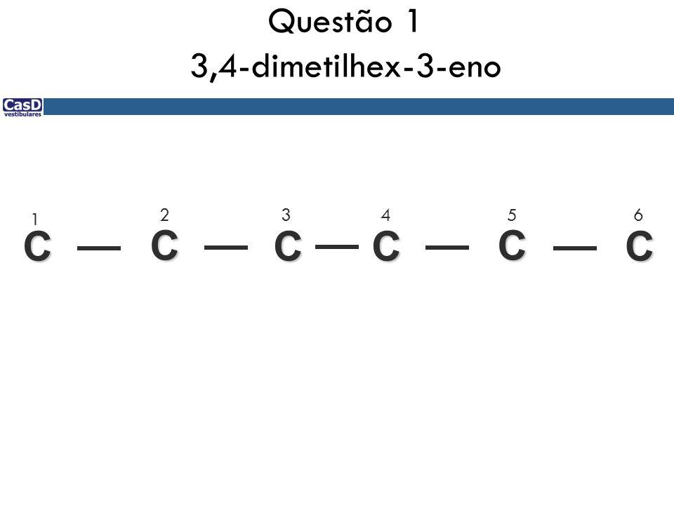 Questão 1 3,4-dimetilhex-3-eno