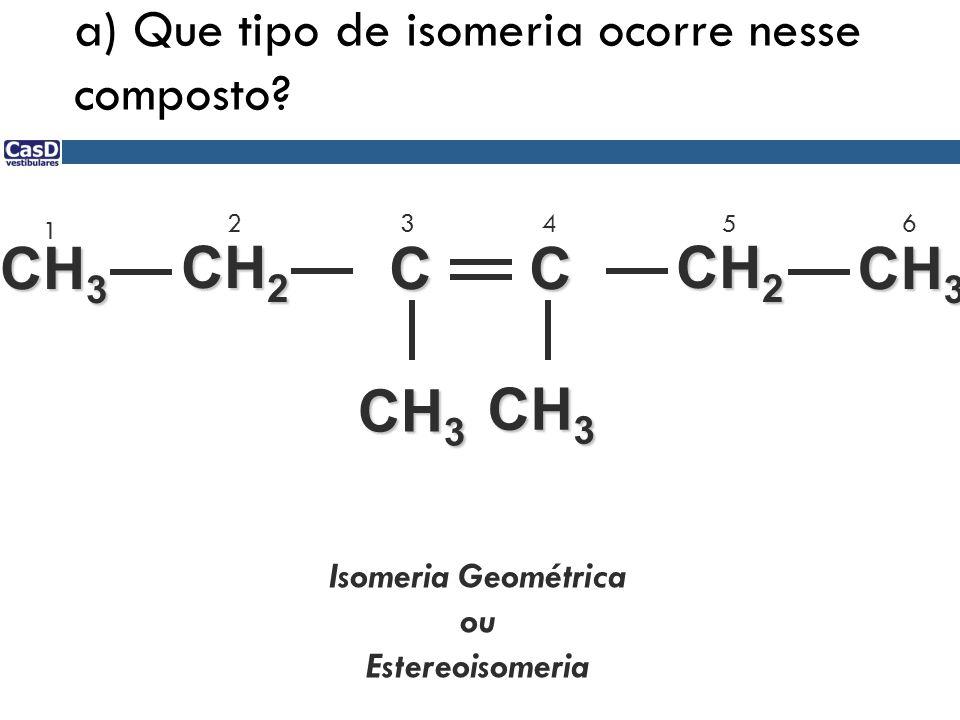 a) Que tipo de isomeria ocorre nesse composto